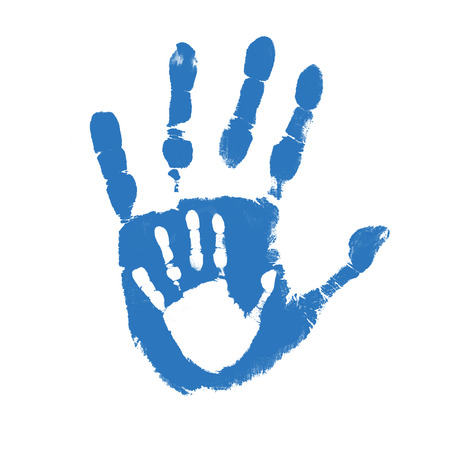 24352868 - father and son handprints over white background, vector illustration