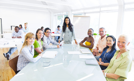 29730668 - group of multi ethnic cheerful corporate people having a meeting